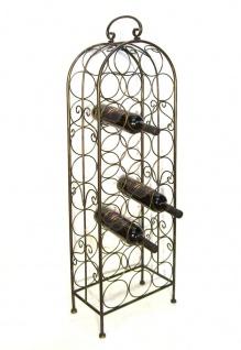 Weinregal Flaschenregal 94004 Flaschenständer aus Metall für 26 Flaschen 105cm