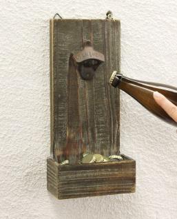 Flaschenöffner mit Kronkorkenbehälter 5094 Bieröffner 32cm Wandflaschenöffner Öffner