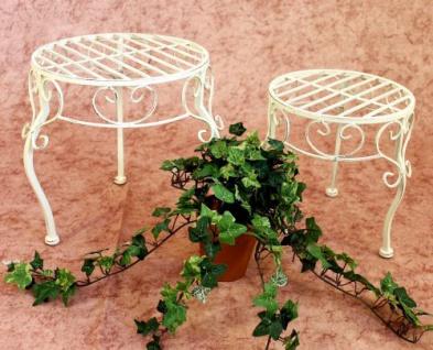 Blumenhocker Romance 2er Set Blumenständer 20218 Pflanzenständer Hocker Weiß - Vorschau 3