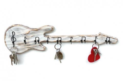 DanDiBo Schlüsselbrett Holz Handmade 96107 Gitarre Schlüsselboard Schlüsselhaken Schlüsselleiste Schlüsselkasten