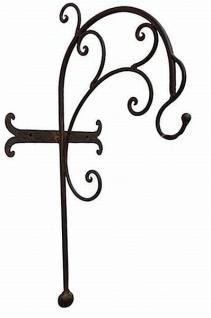 Wandlaterne Piola 54cm mit Halter 079884 Windlicht Laterne mit Haken aus Metall - Vorschau 3