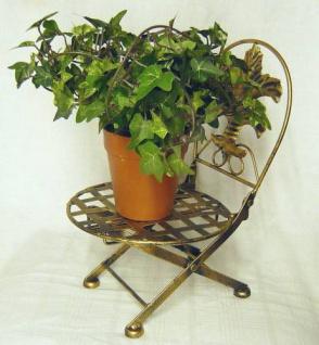 Blumenhocker Stuhl klappbar Blumenständer Pflanzenständer 32cm