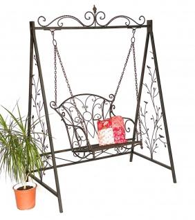 Hollywoodschaukel Metall Antik Gartenschaukel 18811+1868 Hängesessel Hängestuhl mit Gestell Schmiedeeisen Schaukel Garten