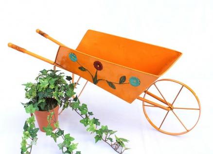Pflanzkarre 19536 Orange Schubkarre 77cm Karre Blumenkasten Blumenständer