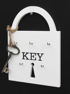 Schlüsselboard Key 17231 Schlüsselleiste H-22 cm Schlüssellhaken Schlüsselkasten