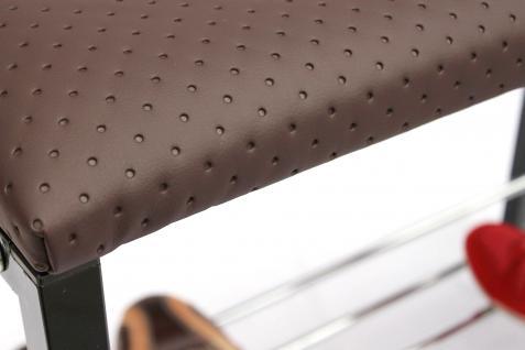 Schuhregal mit Sitzbank Art.391 Bank 70cm Schuhschrank aus Metall Schuhablage - Vorschau 3
