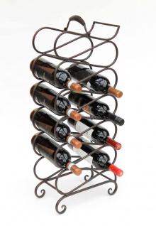 Weinregal Metall Schwarz 75 cm M90 Flaschenregal Flaschenhalter Weinständer Weinschrank Weinflaschenhalter Vintage