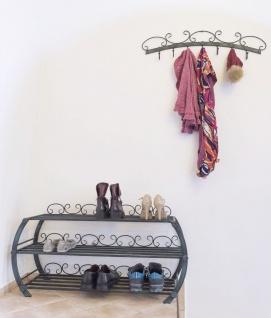 Schuhregal mit Wandgarderobe Set BO Schuhschrank Schuhablage 93547 Metall Schmiedeeisen