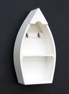 Schlüsselboard mit Ablage Boot 93542-XL Schlüsselhaken Wandregal 38 cm Schlüsselleiste Schlüsselkasten - Vorschau 2