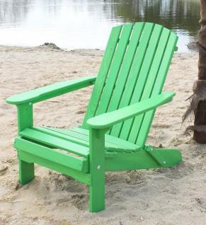 DanDiBo Strandstuhl Sonnenstuhl aus Holz Grün Gartenstuhl klappbar Adirondack Chair Deckchair
