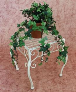 Blumenhocker Romance 30cm Blumenständer 20217 Pflanzenständer Beistelltisch Weiß - Vorschau 3