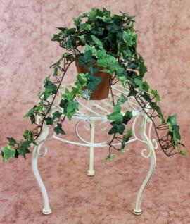 Blumenhocker Romance 30cm Blumenständer 20218 Pflanzenständer Beistelltisch Weiß - Vorschau 3