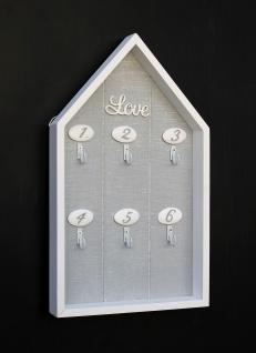 Schlüsselbrett Schlüsselboard Holz Weiß Love 83823 Schlüsselkasten Vintage Shabby Chic Landhaus
