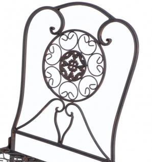 Gartenstuhl Metall Tecla 17921 Metallstuhl Stuhl Garten Vintage Eisen Nostalgie Eisenstuhl Braun Antik - Vorschau 2