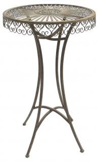 DanDiBo Stehtisch Garten Metall Antik 130414 Tisch H-106cm D-65cm Gartentisch Bistrotisch Bartisch - Vorschau 2