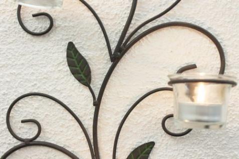 Wandteelichthalter 131004 Teelichthalter aus Metall 45cm Wandleuchter Kerzenhalter - Vorschau 4