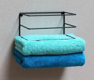 DanDiBo Handtuchhalter Wand Handtuchregal zur Wandmontage 20 cm 93820 Unsichtbar Schwebend Wandhandtuchhalter Metall Schwarz Modern Design