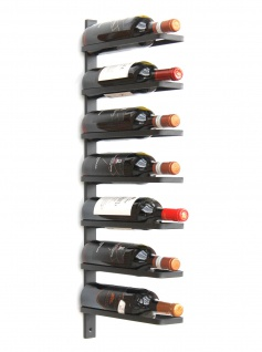 DanDiBo Weinregal Metall Wand Schwarz 93885 Flaschenregal Flaschenhalter Wandmontage Modern Wandhalter Wandregal für 7 Flaschen