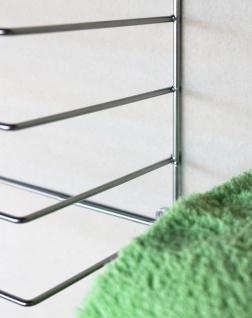 DanDiBo Handtuchhalter Chrome Wand Handtuchregal zur Wandmontage 2er Set 20 cm 93928 Unsichtbar Schwebend Wandhandtuchhalter Metall Modern Design - Vorschau 5