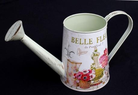 Gießkanne Deko Metall 74511 Metallkanne Fleur Dekokanne Retro Vintage Gartendeko Pflanzen Kanne Pflanzkanne