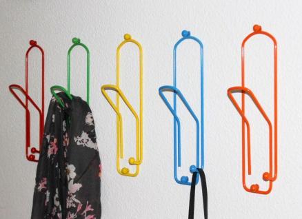 Kleiderhaken Büroklammer Set 5 Stk. Wandgarderobe 32cm Garderobe Wandhaken Haken - Vorschau 2