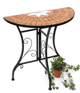 Konsolentisch Merano Wandtisch 120041 Beistelltisch aus Metall und Mosaik 70cm Konsole Tisch