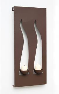 Wandleuchter Flamme 13311 Kerzenleuchter für 2 Kerzen Wandkerzenhalter aus Metall Kerzenhalter.