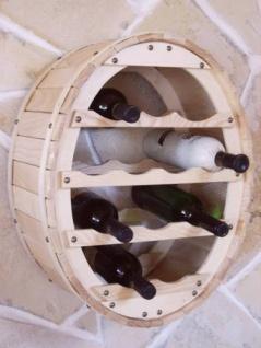 Weinregal zum aufhängen für 12 Flaschen Natur lackiert