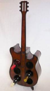Weinregal Flaschenregal 1859 Flaschenständer E Gitarre aus Holz 102cm