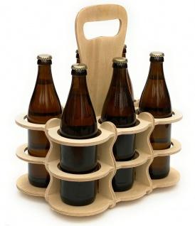 DanDiBo Bierträger aus Holz 6 Flaschen Flaschenträger 96143 Flaschenkorb Männerhandtasche Bier