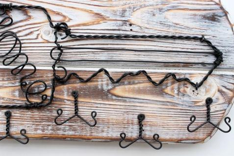 DanDiBo Schlüsselbrett Holz Schlüsselboard 93910 Schlüsselhaken handgemacht Handmade Bügel Holzschlüssel - Vorschau 4