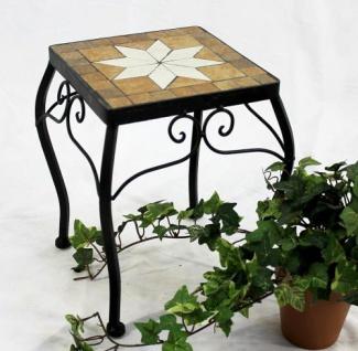 Blumenhocker Merano Mosaik 12015 Blumenständer 28cm Hocker Eckig Beistelltisch
