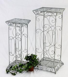 Blumensäule Romance 2er Set 20304 Eckig 63cm und 77cm Blumenhocker Blumenständer - Vorschau 5