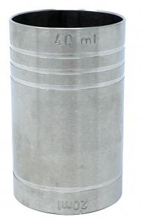 Jigger 2cl 4cl Doppelmessbecher Messbecher Cocktail 20 ml 40 ml Edelstahl Barmaß Dosierer Alkohol Zertifikat Bar