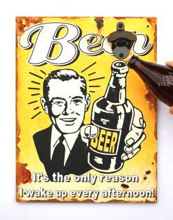 Wandbild Beer mit Flaschenöffner 40cm Bieröffner 21261 Gelb Wandflaschenöffner Öffner