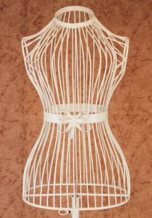 Schneiderpuppe Weiß 150cm 92102 aus Metall Schaufensterpuppe Schneiderbüste - Vorschau 1