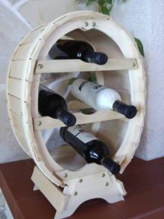 Weinregal für 6 Flaschen Natur lackiert