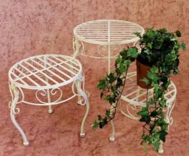 Blumenhocker Romance 3er Set Blumenständer 20218 Pflanzenständer Hocker Weiß - Vorschau 3