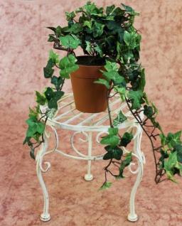 Blumenhocker Romance 25cm Blumenständer 20218 Pflanzenständer Beistelltisch Weiß - Vorschau 3