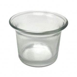 1x Teelichtgläser Teelichthalter Glas Teelichtglas Klar geschwungen 4, 5 cm hoch Kerzenhalter