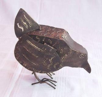 Windlicht Huhn Teelicht Hühnchen aus Metall 16cm NEU