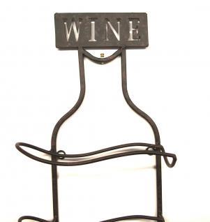 Weinregal Wine 83cm aus Metall 95208 Flaschenständer Wandregal Flaschenhalter - Vorschau 4