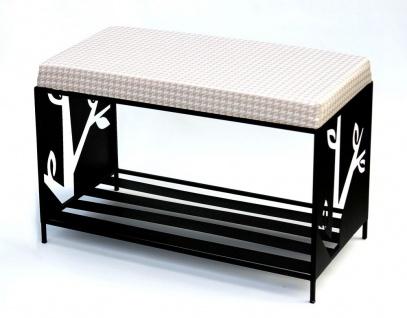 Schuhregal mit Sitzfläche Metall Schwarz 70 cm 10-15051 Schuhregal Schuhschrank
