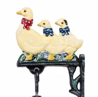 Türglocke Enten Familie 21105 Glocke aus Metall Gusseisen mit Ente Türklingel - Vorschau 2