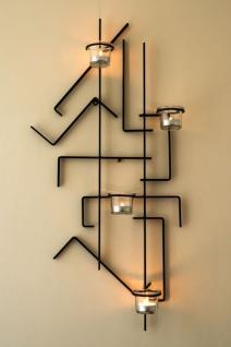 Wandteelichthalter MIX4 Wandkerzenhalter Metall 73cm Teelichthalter Kerzenhalter