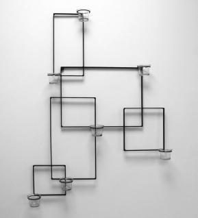 DanDiBo Wandteelichthalter Alegria Metall Wand Schwarz Teelichthalter Kerzenhalter Wandkerzenhalter Wandleuchter - Vorschau 5