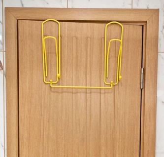 """Designer Türgarderobe """" Büroklammer"""" 32cm Türhaken Garderobe Kleiderhaken Haken - Vorschau 4"""