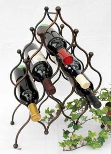 Weinregal JD130406 aus Metall für 8 Flaschen Flaschenhalter 50cm Flaschenregal