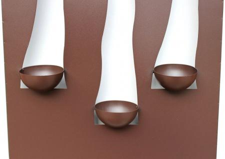 Wandleuchter Flamme 13333 Kerzenleuchter für 3 Kerzen Wandkerzenhalter aus Metall Kerzenhalter - Vorschau 4