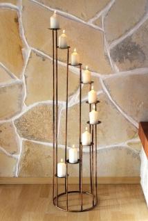 Kerzenständer Art.225 aus Schmiedeeisen 102cm Kerzenleuchter Kerzenhalter Metall - Vorschau 4